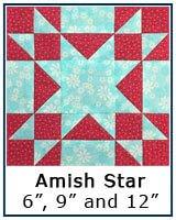 Amish Star quilt block tutorial