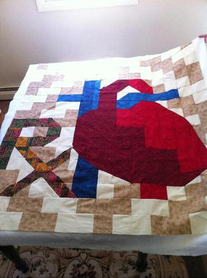 Anatomical Heart Pharmacy Quilt<br><br>Click on each thumbnail below for a larger image<br><br>