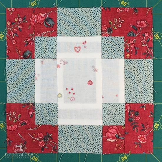 Completed Antique Tile quilt block