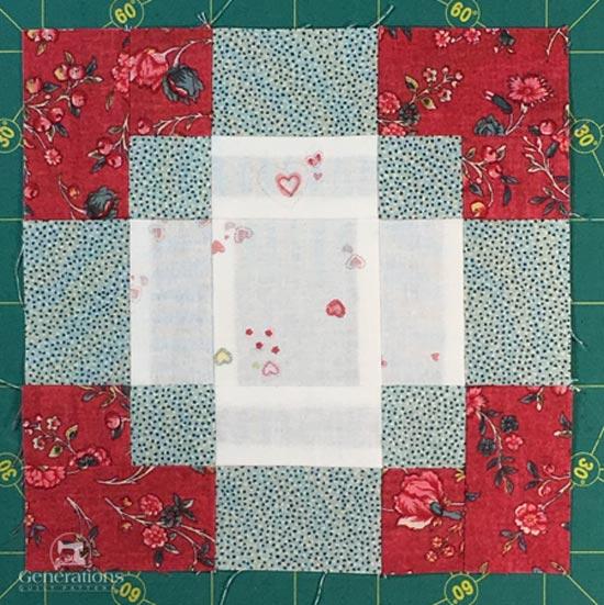 Completed Antique Tile quilt block