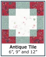 Antique Tile quilt block tutorial