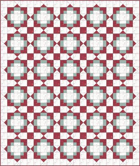 Antique Tile quilt blocks floated