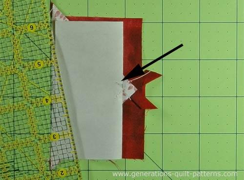 Fold the paper pattern back on itself