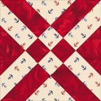 Arrowhead quilt block design, Variation 1