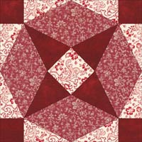 Arrowhead quilt block design, Variation 2