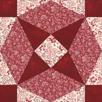 Arrowhead quilt block design, Variation 2