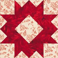 Arrowhead quilt block design, Variation 3
