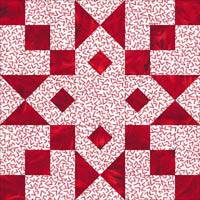 Arrowhead quilt block design