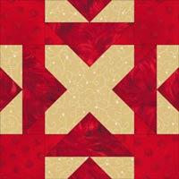 Arrowhead quilt block design