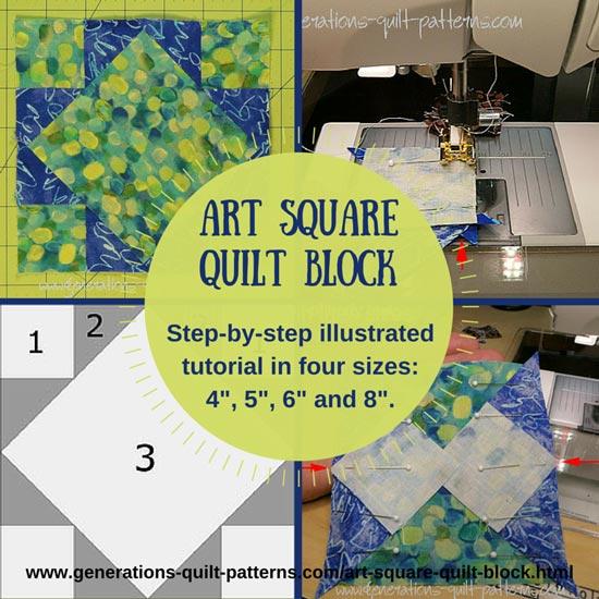 Art Square quilt block tutorial starts here