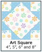 Art Square quilt block tutorial