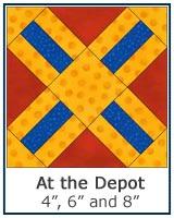 At the Depot quilt block tutorial