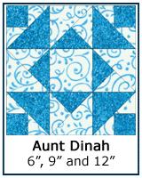 Aunt Dinah quilt block tutorial