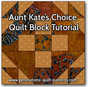 """Aunt Kate's Choice"" Free Modern Quilt Block Pattern designed by Julie Baird from Generations Quilt Patterns"