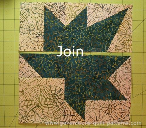 Leaf Quilt Pattern Blocks : Autumn Leaf Quilt Block: A Maple Leaf variation, 3 sizes