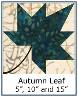Autumn Leaf quilt block tutorial