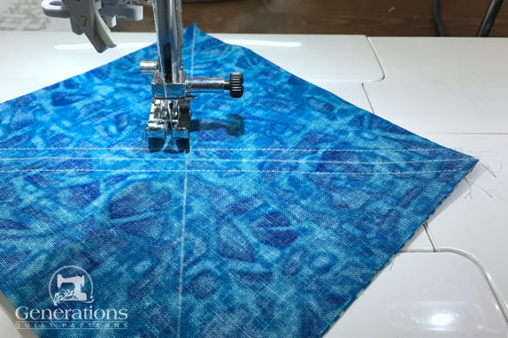 Sew the HST seams