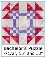 Bachelor's Puzzle quilt block tutorial