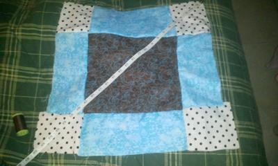 Finished top side of quilt