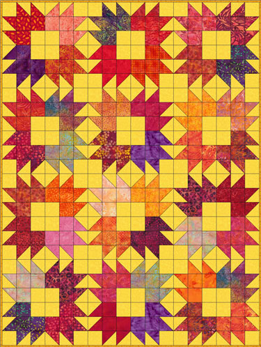Bear Tracks quilt blocks set edge-to-edge