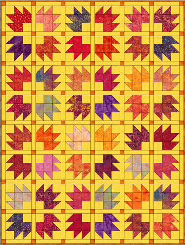 Bear Tracks Quilt Block Instructions In 4 Sizes