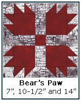 Bear's Paw quilt block tutorial