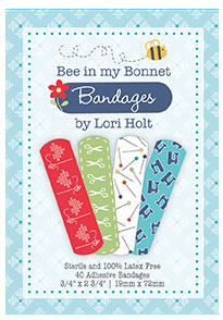 Bee In My Bonnet Band Aids available from the Fat Quarter Shop