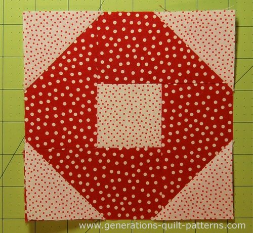 A finished Big O quilt block