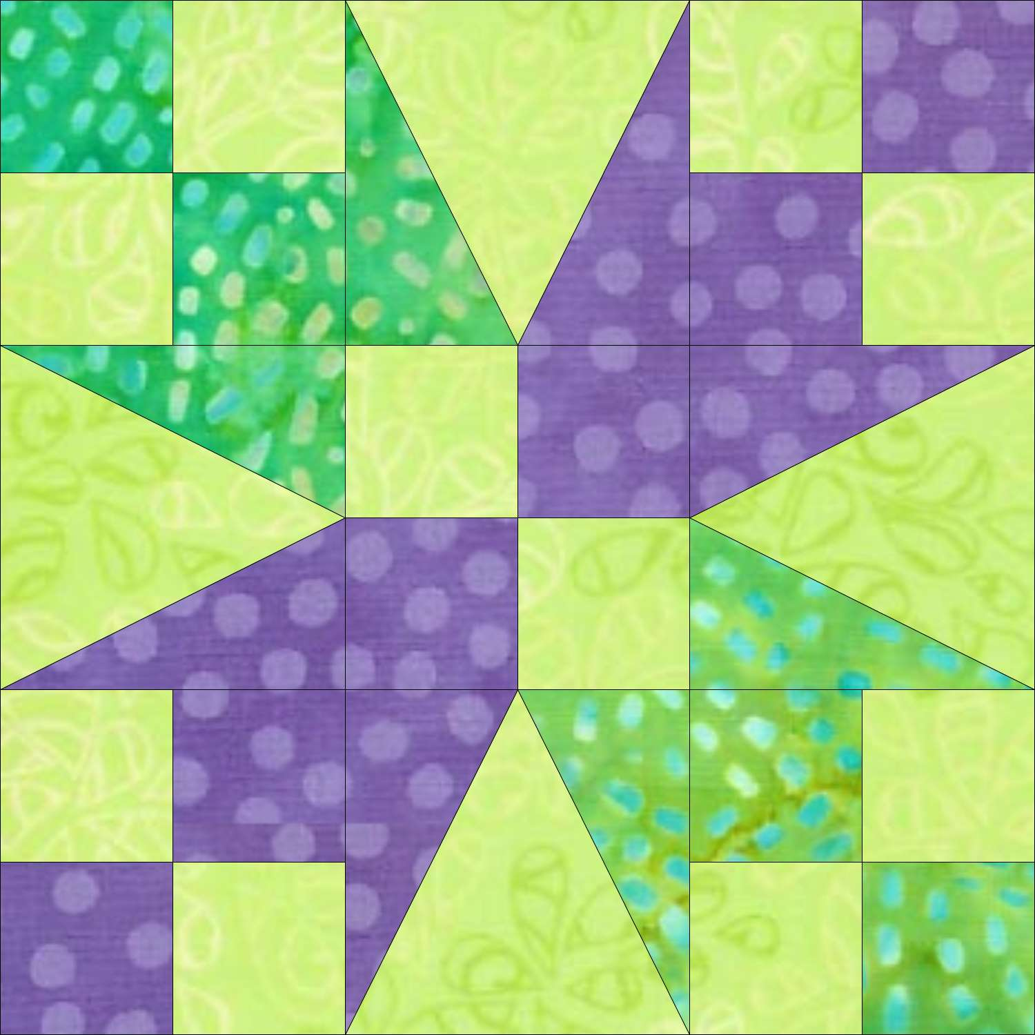 Bird of Paradise quilt block