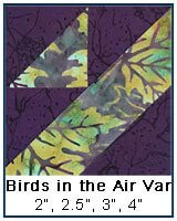 Birds in the Air quilt block tutorial