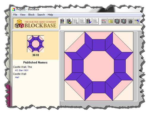 Castle Wall quilt block
