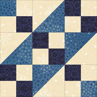 Blue Chains quilt block design
