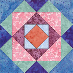Boxes quilt bloc design