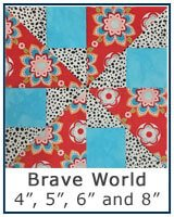 Brave World quilt block tutorial - PAPER PIECING