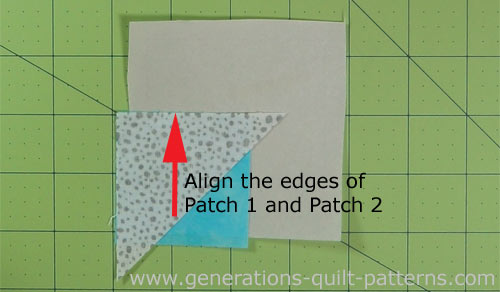 Align the edges of Patch 1 and 2