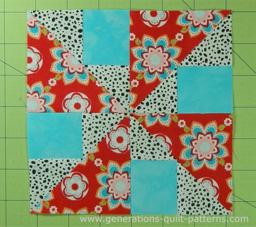 Brave World Quilt Block is finished