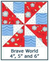 Brave World quilt block tutorial