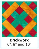 Brickwork quilt block tutorial