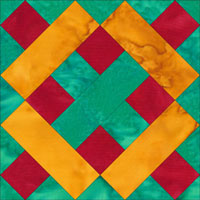 Brickwork quilt block