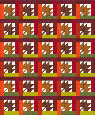 Bright Hopes quilt sample setting