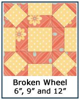 Broken Wheel quilt block tutorial