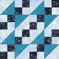 Buckeye Beautiful quilt block design