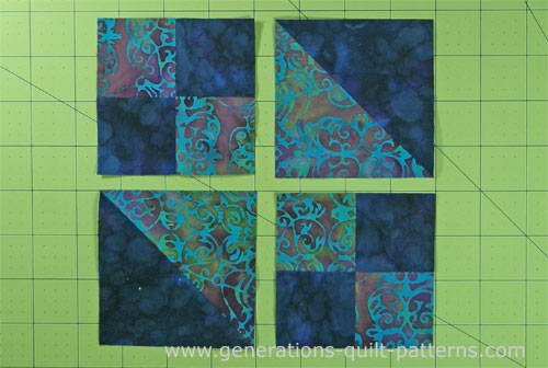 Quick Buckeye Beauty Quilt Block Instructions For 3 Quot 4