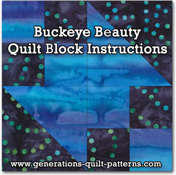 Buckeye Beauty quilt block tutorial