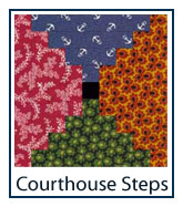 Courthouse Steps quilt designs