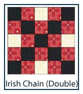 Double Irish Chain quilt designs