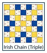 Triple Irish Chain quilt designs