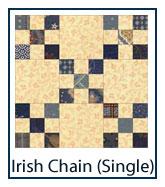 Single Irish Chain quilt designs