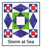 Storm at Sea quilt design inspirations