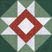 Card Basket quilt block